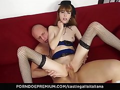 CASTING ALLA ITALIANA - Hardcore Italian audition with sexy skinny babe Yukikon