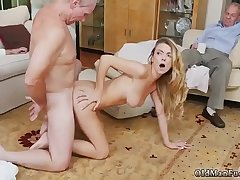 Girl gets fucked with strap heavens and boss'_ compeer'_s sister handjob