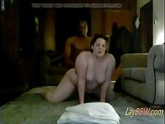 domineer BBW floozy hard pounded by BBC on hidden cam
