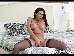 Temporary slut is with an experienced mummy and a man as well