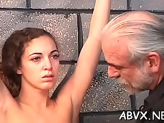 In nature'_s garb chicks less playing in bondage xxx amateur movie scene