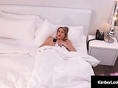 Horny Young Kimber Lee Dildo Bangs Thither Voyeur Watching All!