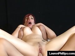 Busty RedHead Lauren Phillips Is Fucked &amp_ Jizzed On Her Tits
