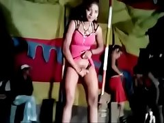 Erotic dancers during village jaatra. One girl shamelessly displaying say no to hairy