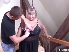 Horny old cunt is so usurp to be fucked by a big young cock