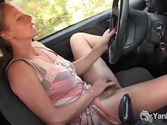 Yanks Hottie Aden Rose Cums in the Jalopy
