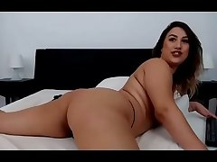 Hot brunette floozy teased big ass