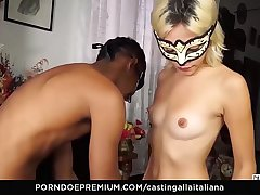 CASTING ALLA ITALIANA - Young newbie shows off blowjob and sex talents